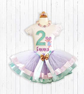 Abby Cadabby Sesame Street Birthday Outfit Shirt With Matching Tutu