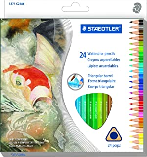 Staedtler 24CT Triangular Water Colored Pencils (1271 C24A602ID)