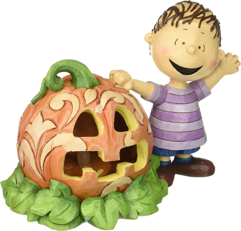 Jim Shore for Enesco Peanuts Linus and The Great Pumpkin Figurine, 5
