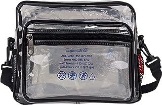 Amaro Delux 0.6mm Clear Box Cross Shoulder Messenger Bag, Adjustable Shoulder Strap and Zippered,Transparent, See Through,Stadium Approved Purse
