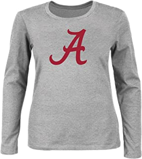 NCAA Women's Plus Size Scoop-Neck Long Sleeve Cotton Tee Shirt