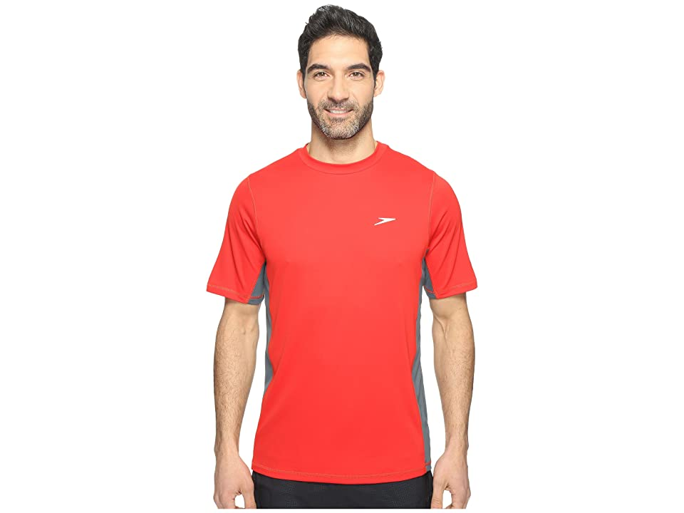 Speedo Longview Swim Tee (Atomic Red) Men