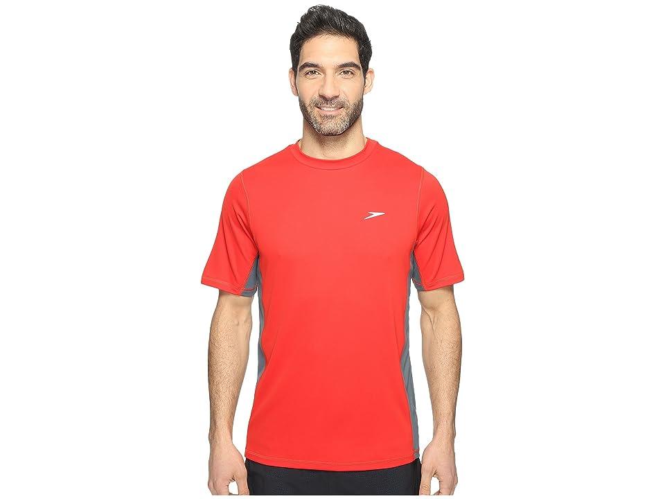 Speedo Longview Swim Tee (Atomic Red) Men's Swimwear