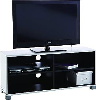 Demeyere #218 Grafit - Mueble para televisor (con baldas Inferiores) Color Blanco y Negro