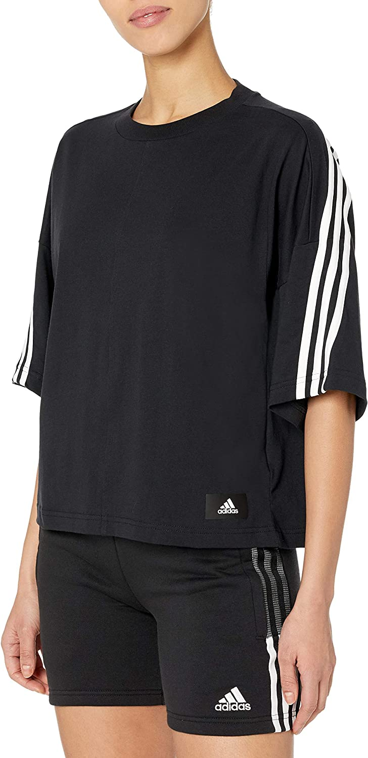 adidas Women's Super sale period limited Max 53% OFF 3-Stripes Tee