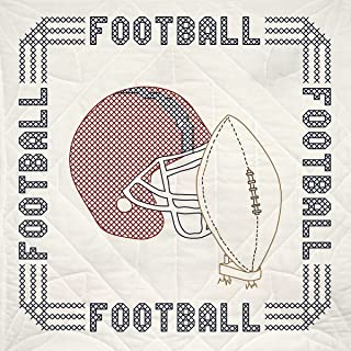 football stitches embroidery design