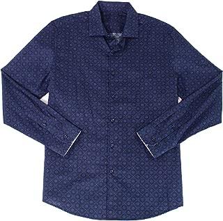 Tasso Elba Mens Cirene Cotton Printed Button-Down Shirt