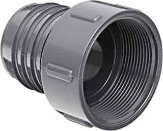 Spears 1435 Series PVC Tube Fitting, Adapter, Schedule 40, Gray, 1