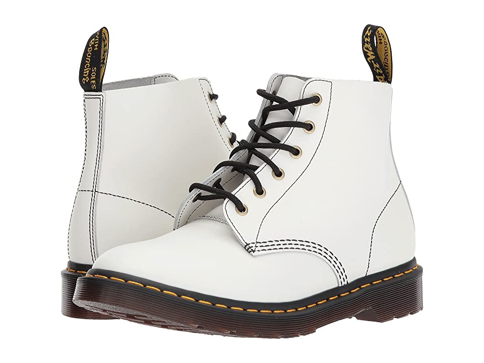 Dr. Martens 101 Smooth Archive 6-Eyelet Boot (White Smooth) Boots
