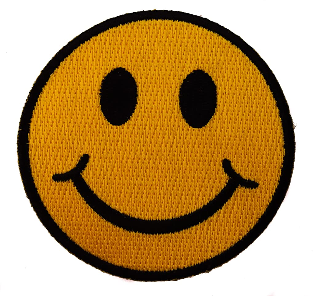 Smiley Smile Smiles Happy Face Iron on Patch D2