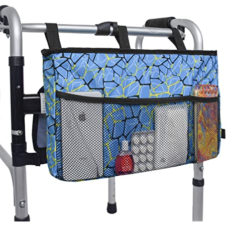 with padded hand grips recovery travel tote caddy Walker bag arthritis sufferers