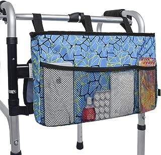 Walker Bag Organizer, MDSTOP Hanging Storage Bag, Waterproof Accessory Tote Caddy, Universal Fits for Walkers, Scooters or Rollator Walkers (Blue, 16.5