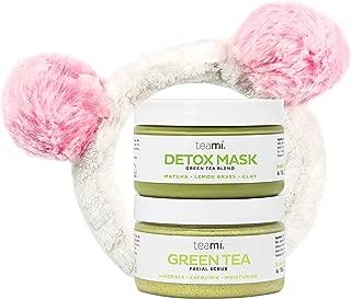 Teami Face Mask and Scrub - Our Facial Scrubs Exfoliate, Hydrate, Moisturize All Skin Types (Glow Kit w/Bonus Headband)