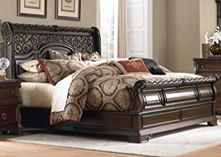 Liberty Furniture Industries Arbor Place Queen Sleigh Bed, Brownstone Finish