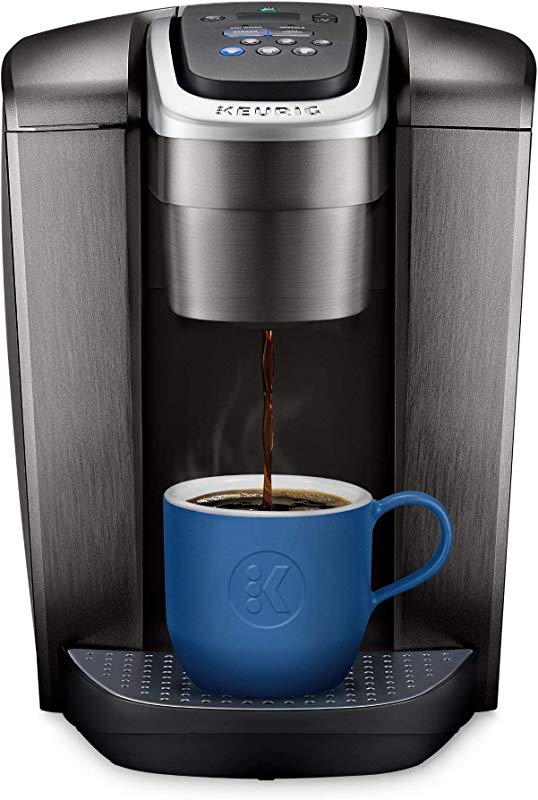 Keurig K Elite Single Serve K Cup Pod Coffee Maker With Strong Temperature Control Iced Coffee Capability 12oz Brew Size Programmable Brushed Slate Renewed