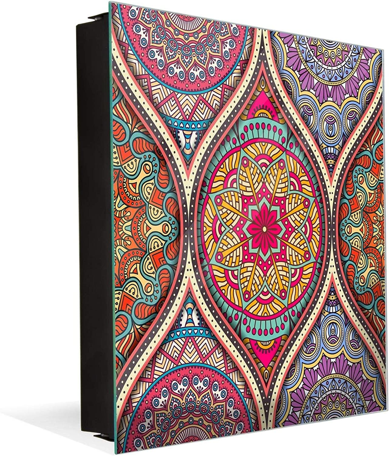 Wall Mount Key Box Together with Decorative Dry Erase Board K12 Islam Pattern