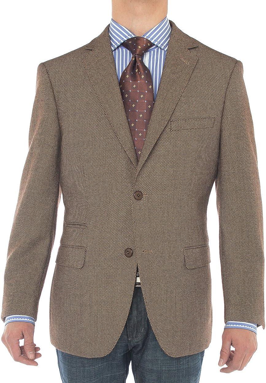 Luciano Natazzi Men's 2 Button 160'S Wool Suit Jacket Working Buttonholes Blazer