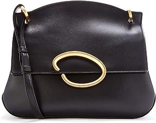 Oscar de la Renta Black Leather Remedy Bag