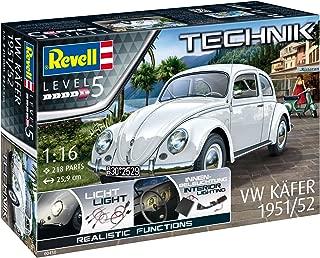 Revell- Kit de Modelo, Volkswagen VW Escarabajo 1951/1952 con Elektronik para interesantes Efectos 1: 16 Escala (00450)