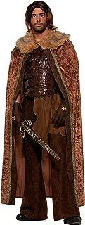 Forum Novelties Men's Medieval Fantasy Faux Fur Trimmed Costume Cape