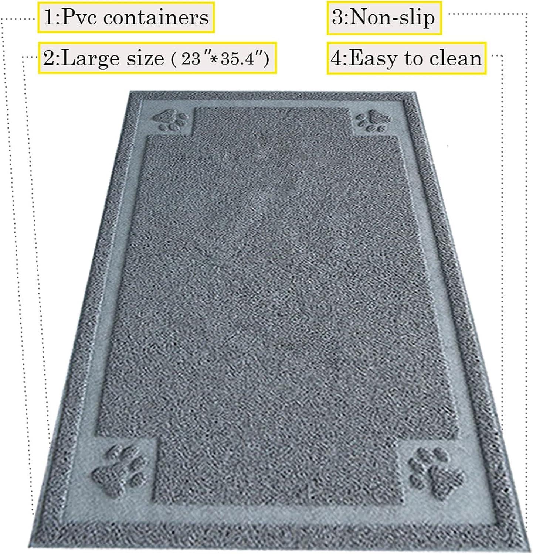 DIJOQU Litter Mat 35  x 24  Cat Litter Mat, Traps Messes, Easy Clean, Durable, Non Toxic Trapper Rug  Litter Box Mat, Cat Mat, Cat Litter Mat