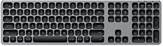 Satechi Aluminum Bluetooth Keyboard with Numeric Keypad - Compatible with iMac Pro/iMac, 2018 Mac Mini, 2019 MacBook Pro, 2018 MacBook Air, 2019 iPad/2018 iPad Pro (English, Space Gray)