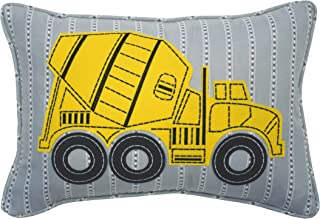 WAVERLY Kids Under Construction Oblong Embroidered Accessory Pillow, 12