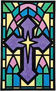 Fun Express - Cyo Cross Fuzzy Pictures - Craft Kits - CYO - Fuzzy - Posters - 12 Pieces