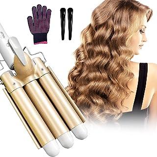 Newlemo 3 Barrel Curling Iron, Crimper Hair Iron -1Inch, Temperature Adjustable Portable Curling...