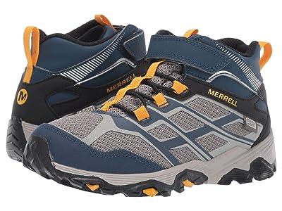 Merrell Kids M-Moab FST Mid A/C Waterproof (Little Kid/Big Kid) (Navy/Stone) Boys Shoes