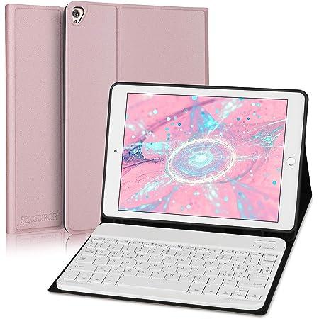 SENGBIRCH Teclado funda para iPad 8ª Gen 2020 10. 2 / iPad 7ª Gen 2019 10.2 / iPad Air 3 / iPad Pro 10.5, teclado inalámbrico Bluetooth versión ...