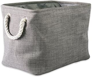 DII 5568 Collapsible Variegated Polyester Storage Bin, Large, Gray