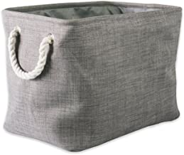 DII Polyester Variegated Storage Bin, Collapsible & Convenient Storage Solution For Office, Bedroom, Closet, Toys, & Laund...