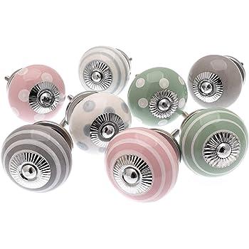 Set di 6 manopole in ceramica Animal Power di Trinca-Ferro