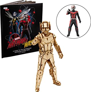 Marvel Ant-Man Book and 3D Wood Model Figure Kit - Build, Paint and Collect Your Own Wooden Toy Model - Great for Kids and Adults, 12+ - 7