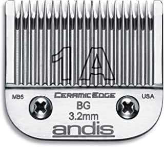 Andis 63055 CeramicEdge Carbon Infused Steel Detachable Blade, Size 1A, 1/8-Inch Cut Length