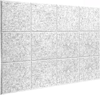 DEKIRU New 12 Pack Acoustic Foam Panels, 12 X 12 X 0.4 Inches Soundproofing Insulation Absorption Panel High Density Bevle...