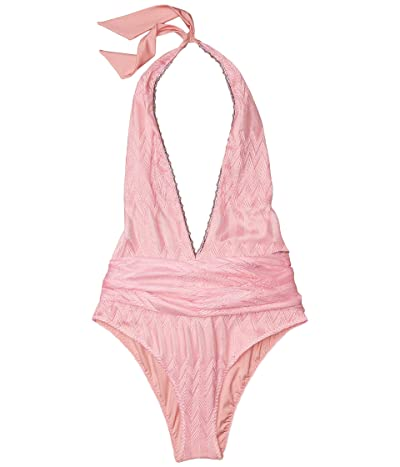 Missoni Mare One-Piece Swimsuit w/ Sash (Pink) Women
