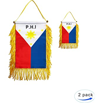 Mini banner flag pennant window mirror cars country banner philippines
