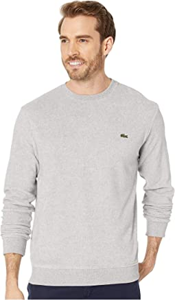 Long Sleeve Cott/Cashmere Velvet Crew Neck Sweatshirt