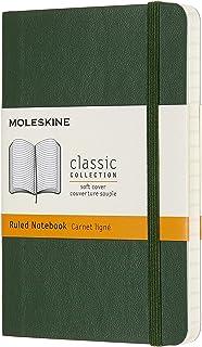 Moleskine - Classic Soft Cover Notebook - Ruled - Pocket - Myrtle Green