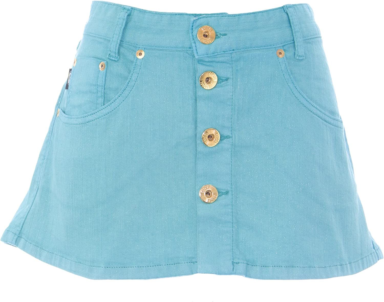 DIESEL Women's Revolution Sparkle Button Front Mini Skirt  00D2Z7 Teal NEW