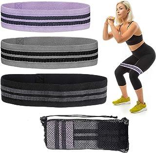gracosy Träningsband för ben och rumpa, fitness träningsband halkfria träningsband stövelband med 3 motståndsnivåer för kn...