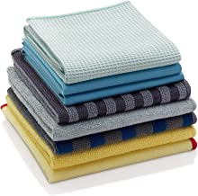 E-Cloth Home Cleaning Set, Microfiber Cleaning Cloths, Assorted Colors, 8 Count