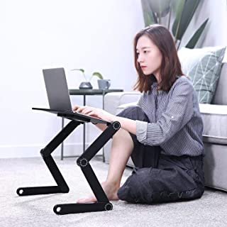 Cozy Desk Portable Laptop Stand for Computer,ORAF Cool Desk Portable Adjustable Aluminum Laptop Stand/Desk/Table TV Bed Table with Cooling Fans Mouse Pad Mount-Notebook-MacBook-Light Weight