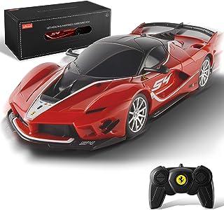 BEZGAR Toy Grade 1:24 Scale Licensed Remote Control Car, Ferrari FXX K EVO Electric Sport Racing...