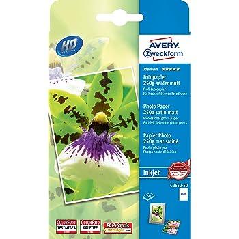 AVERY Zweckform Premium Inkjet Fotopapier A6 250 g//qm 80 Blatt