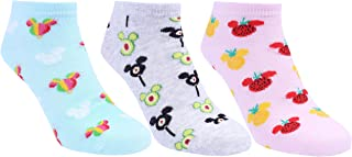 3 x calcetines color rosa - azul de Mickey Mouse de DISNEY