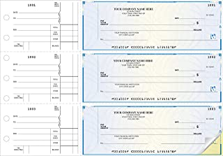 CheckSimple 3-Per-Page All-Purpose High Security Manual Business Checks (2-Part) - Counter Signature (150 Qty) - Custom