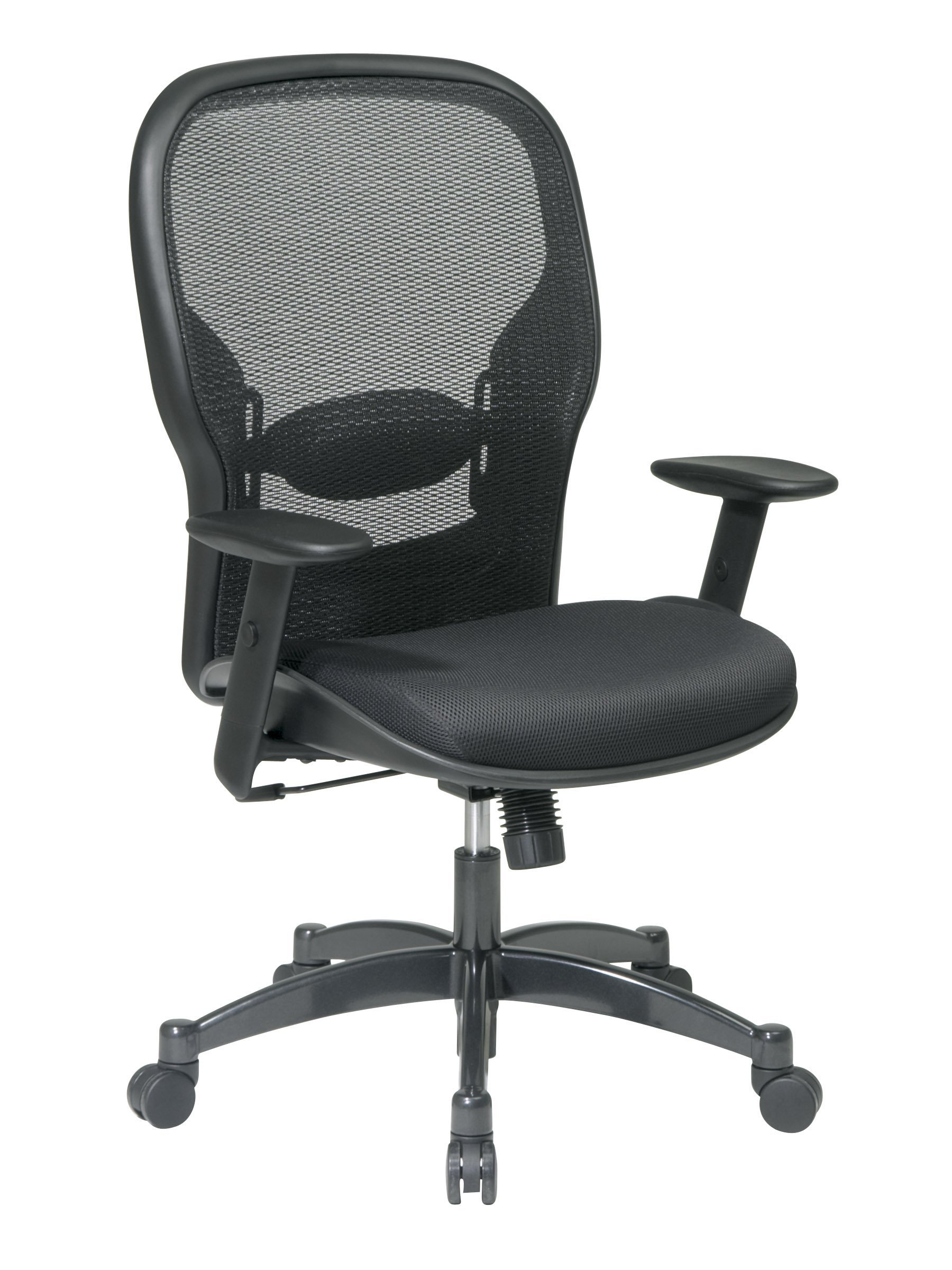 Seating Breathable Adjustable Gunmetal Managers